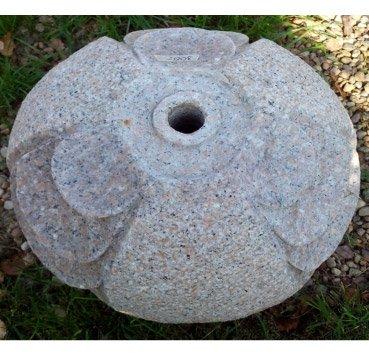 Сфера-фонтан из гранита Gioco D'Acqua In Gr. Rosa