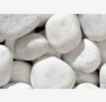 Мрамор обработанный (галька) Bianco Carrara